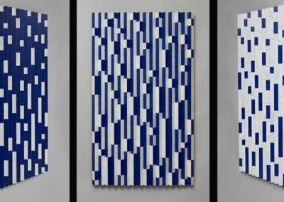 Emi Ozawa, Rain on Rain, 2016, acrylic on poplar, 48 x 28.5 x 2 inches