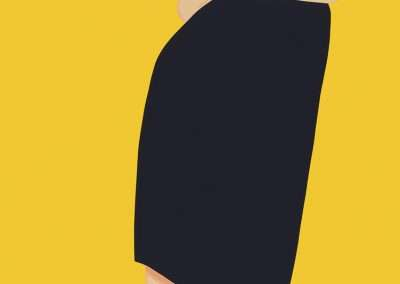Alex Katz, Black Dress Portfolio, 2015, set of 9 color silk screen prints 80 x 30 inches: each image, Edition of 35
