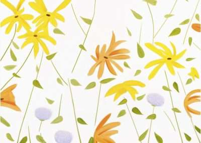 Alex Katz, Summer Flowers II, 2017, archival pigment inks on Crane Museo Max 365 gsm fine art paper, 23 x 29 inches: image, Edition of 100