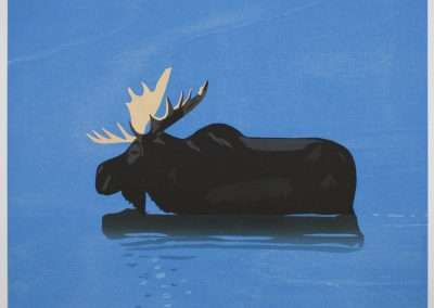 Alex Katz, Moose, 2013 woodcut, 21.75 x 29.5 inches, 21.75 x 29.5 inches: image, Edition of 70
