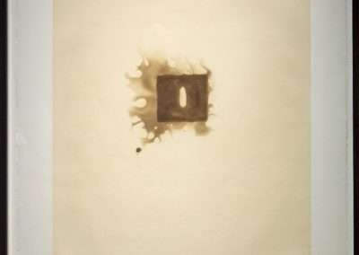 Anish Kapoor, Untitled (from Skowhegan), 1992, aquatint printed in brown on Somerset textured paper, 35 x 30 inches: paper, 37.75 x 33 inches: frame, Edition of 80