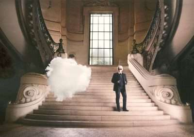 Berndnaut Smilde, Karl Lagerfeld: Iconoclouds, 2013, digital C-type print, 15.75 x 23.62 inches, Edition  of 50. Portfolio of 4 images availble.