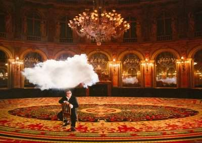 Berndnaut Smilde, Alber Elbaz: iconoclouds, 2013, digital C-type print, 15.75 x 23.62 inches, Edition  of 50. Portfolio of 4 images availble.