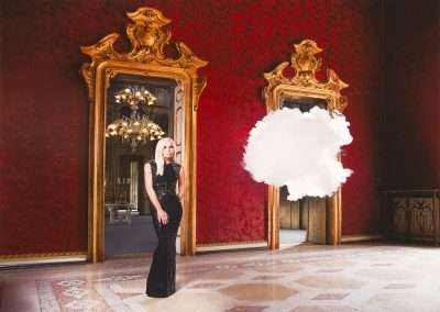 Berndnaut Smilde, Donatella Versace: Iconoclouds, 2013, digital C-type print, 15.75 x 23.62 inches, Edition  of 50. Portfolio of 4 images availble.