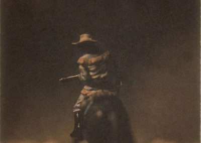 David Levinthal, untitled (from the Wild West II), 1996, waterless lithograph, 7.5 x 6 inches: image, 20.5 x 17 inches: paper, Edition of 22