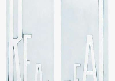 Ed Ruscha, Real Deal, 2014, flat bite etching, 29.5 x 25.5 inches: image, 36.5  x 31.5 inches: paper, Edition of 40