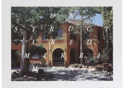 Ed Ruscha, Unstructured Merriment, 2016, 19 color lithograph and screenprint, 19 x 25.75 inches: image, 26.75 x 33.25 inches: frame, Edition of 60