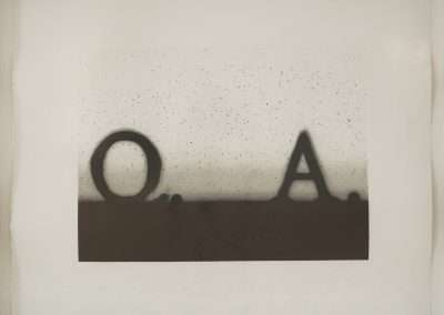Ed Ruscha, Question and Answer, 1991, lithograph on Rives BFK paper, 15 x 18 inches: paper, 16.75 x 19.75 inches: frame, Edition of 50