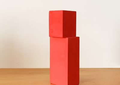 Jeff Kellar - Blocks(B-RR15), 2018, resin, clay and pigment on wood, 7.5 x 2.25 x 2.5 inches