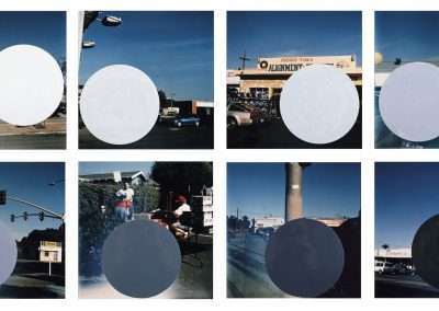 John Baldessari, National City (W,1,2,3,4,5,6,B), 1996/2009, eight archival inkjet photographs with hand painted acrylic, 18 x 18 inches: each image, Edition of 12