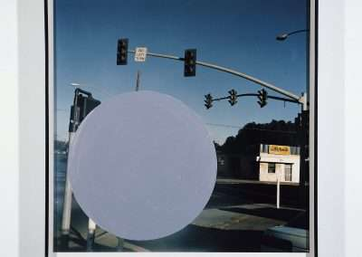 John Baldessari, National City (4), 1996/2009, archival inkjet photograph with hand painted acrylic, 19.125 x 18.75 inches: image, 25.25 x 24.5 inches: frame, Edition of 12