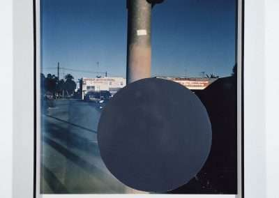 John Baldessari, National City (6), 1996/2009, archival inkjet photograph with hand painted acrylic, 18 x 18 inches: image,19.125 x 18.75 inches: paper, Edition of 12