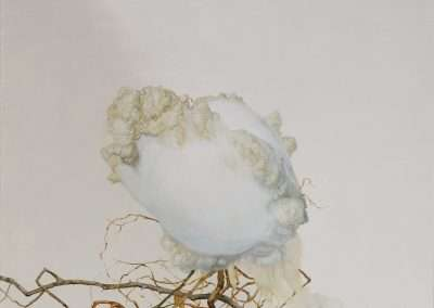 Matthew McConville, Cloud Roots Still Life, 2015, oil on panel, 14 x 14 inches: image, 14.5 x 14.5 inches: frame