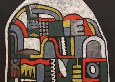 Mick Burson - trash bag., 2019, graphite color pencil on paper, 30 x 22 inches: image, 33.75 x 26.75 x 1.5 inches: frame