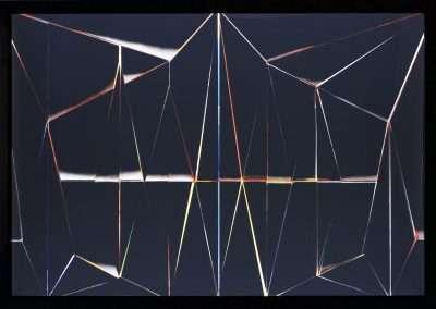 Pablo Zuleta Zahr, Blackspace 4, 2015, framed Duratrans print on light box, 25 x 36 inches: frame, Edition of 6