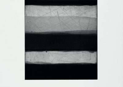 Sean Scully, Landline Grey, 2015, aquatint, spit bite and sugar lift on paper, 12.5 x 10 inches: image, 22 x 17 inches: paper, Edition of 30