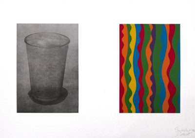 Sol LeWitt & Sachiko Cho Equivalent, 2002, linocut and photogravure, 12 x 18 inches: image, 13.625 x 19.625 inches: frame, Edition of 30