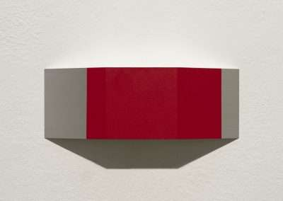 Stuart Arends, Wedge #5, 2006, oil on aluminum, 4 x 11 x 1.75 inches