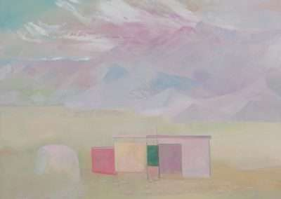 Thomas Frontini - Frontini Canvas Desert House #1, 2017, oil on panel, 16 x 20 inches
