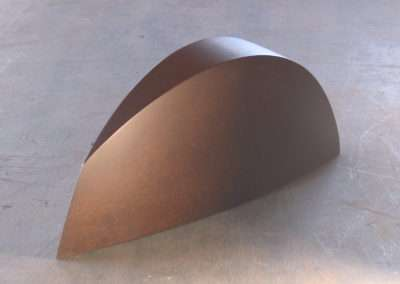 Tom Waldron - Slice, 2012, fabricated steel 6.25 x 17 x 4 inches