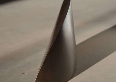 Tom Waldron, Clasp, 2001 steel, 6.75 x 12 x 2.75 inches, Edition of 8, Published by Richard Levy Editions