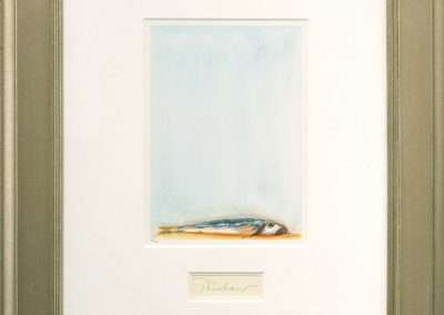 Wayne Thiebaud, Trout Fishing in America, 1994, original lithograph in colors, 10 x 7.25 inches: image, 26 x 21.5 inches: frame, Edition of 200