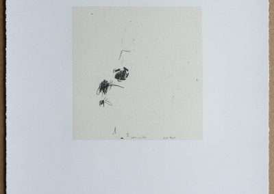 Wes Mills, 1. sore, 1994, waterless lithograph, 8.25 x 8 inches: image, 19.25 x 16 inches: paper, Edition of 18, Published by 21 Steps Editions