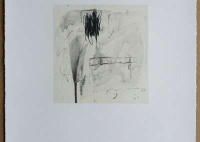 Wes Mills, 3. wednesday around 2:45, 1994, waterless lithograph, 8.25 x 8 inches: image, 19.25 x 16 inches: paper, Edition of 18, Published by 21 Steps Editions
