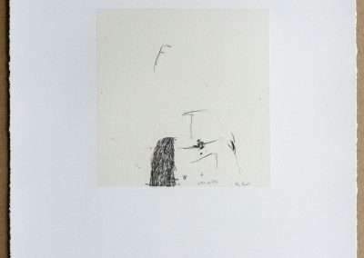 Wes Mills, 4. brothers wound, 1994, waterless lithograph, 8.25 x 8 inches: image, 19.25 x 16 inches: paper, Edition of 18, Published by 21 Steps Editions