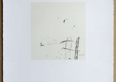 Wes Mills, 5. trees, 1994, waterless lithograph, 8.25 x 8 inches: image, 19.25 x 16 inches: paper, Edition of 18, Published by 21 Steps Editions