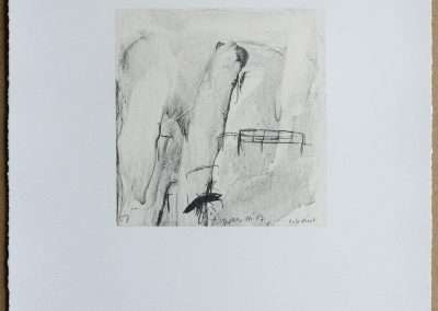 Wes Mills, 7. Untitled, 1994, waterless lithograph, 8.25 x 8 inches: image, 19.25 x 16 inches: paper, Edition of 18, Published by 21 Steps Editions