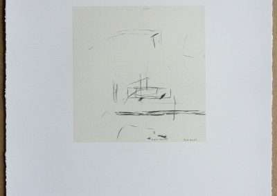 Wes Mills, 8. road. mill, 1994, waterless lithograph, 8.25 x 8 inches: image, 19.25 x 16 inches: paper, Edition of 18, Published by 21 Steps Editions