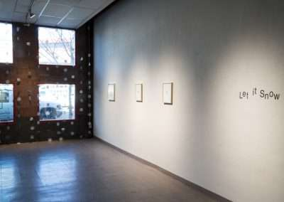 Installation View: Let it Snow exhibition Richard Levy Gallery