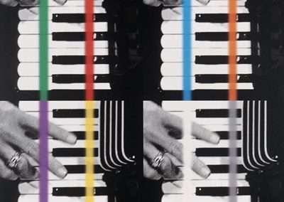 John Baldessari, Concerto For Two, 2018, 7 color screenprint, 24 x 20 inches, Edition of 75
