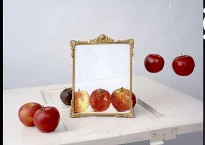 John Chervinsky, Apples, Painting on Door, 2011, archival inkjet print,  24 x 30, inches: image, Edition of 15