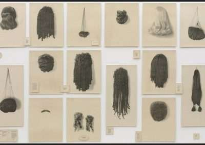 Lorna Simpson, Wigs (Portfolio), 1994, Portfolio of twenty-one lithographs on felt, with seventeen lithographed felt text panels 72 x 156 inches (overall), Edition of 15, Published by 21 Steps Editions, SOLD OUT