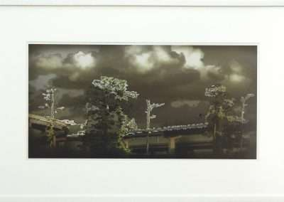 Martin Denker, Digitale Landschaft 3112, 2003, c-print, 10.5 x 21.75 inches: image, 19 x 30 inches: frame, Edition of 30