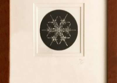 Wilson Bentley, Bentley Snowflake B.E. 6, hand printed photograph made from original glass plate negative, 3 x 3 inches: image, Edition of 600