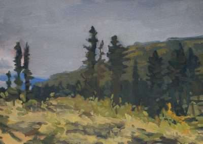 Beau Carey, Durango, 2018, oil on paper, 5.5 x 7.5 inches: paper, 9 x 11 inches: frame