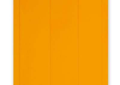 Jeff Kellar, Lined Space Orange 3, 2019, resin, clay and pigment on aluminum composite panel, 36 x 24 inches