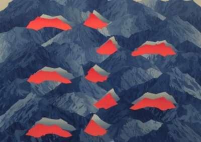 Beau Carey, Mt. Eolus, 2019, oil on canvas, 48 x 56 inches