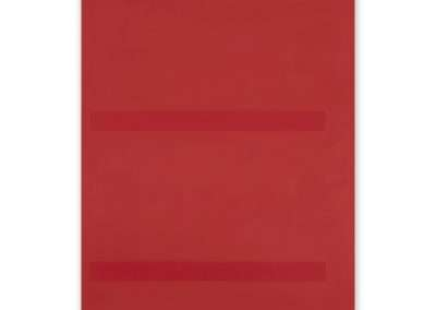 Jeff Kellar, Lined Space Red 2, 2018, resin, clay and pigment on aluminum composite panel, 35.5 x 24 inches