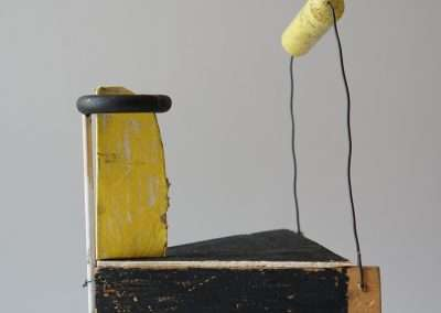 Mick Burson, Everything I should have been doing instead of this, 2019, wood, wire, pencil, paint, 12 x 8 x 7 inches