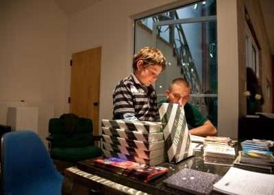 DJ Spooky reception Richard Levy Gallery