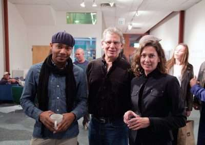 DJ Spooky, Richard Levy and Erika Blumenfeld at Richard Levy Gallery