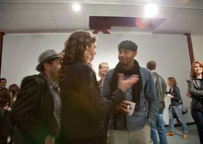 Erika Blumenfeld and DJ Spooky at Richard Levy Gallery