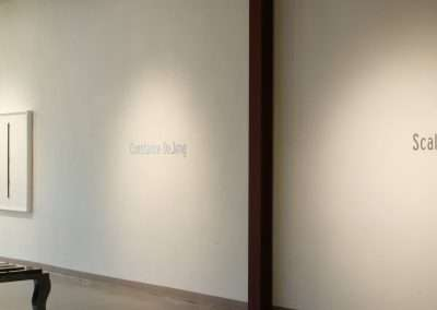 Constance DeJong, scale at Richard Levy Gallery