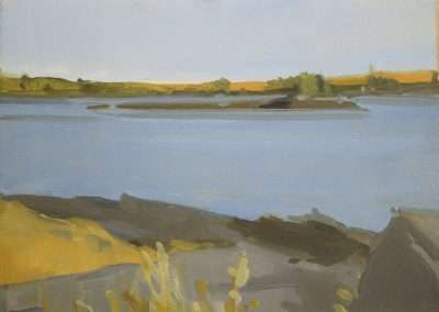 Beau Carey, Cobscook Bay, 2019, oil on paper, 10 x 13 inches: image