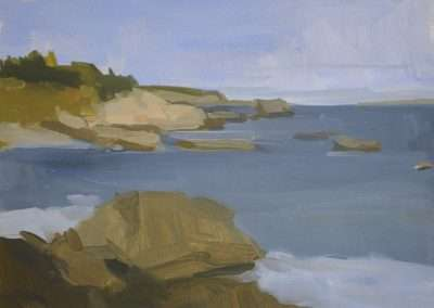 Beau Carey, Cutler Coast, 2019, oil on paper, 10 x 13 inches: image