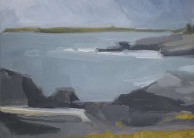 Beau Carey, Quoddy Driftwood, 2019, oil on paper, 5 x 7 inches: image